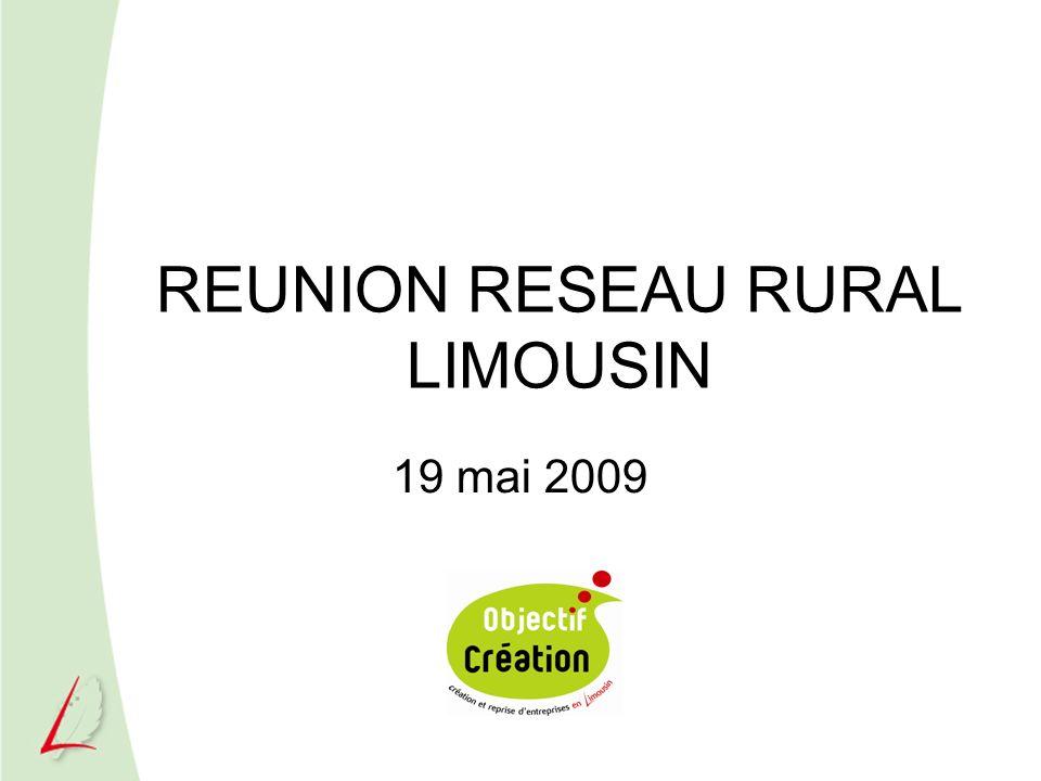 REUNION RESEAU RURAL LIMOUSIN