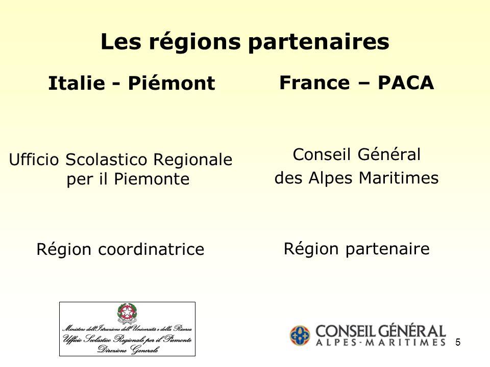 Les régions partenaires