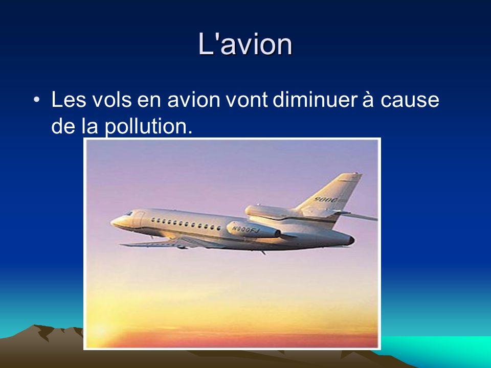 L avion Les vols en avion vont diminuer à cause de la pollution.