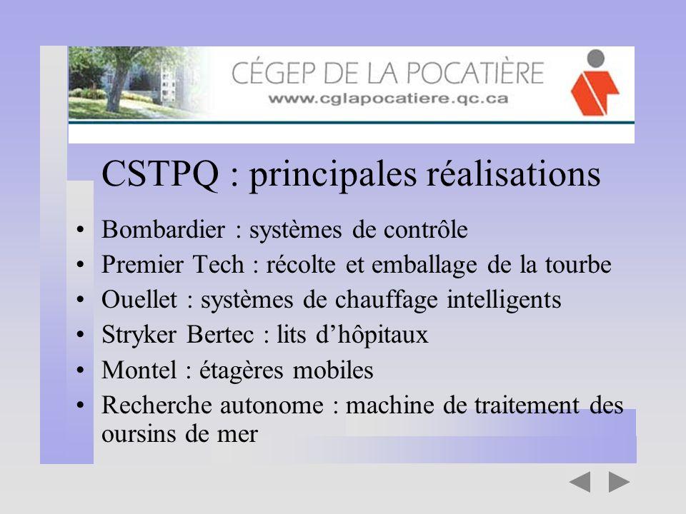 CSTPQ : principales réalisations