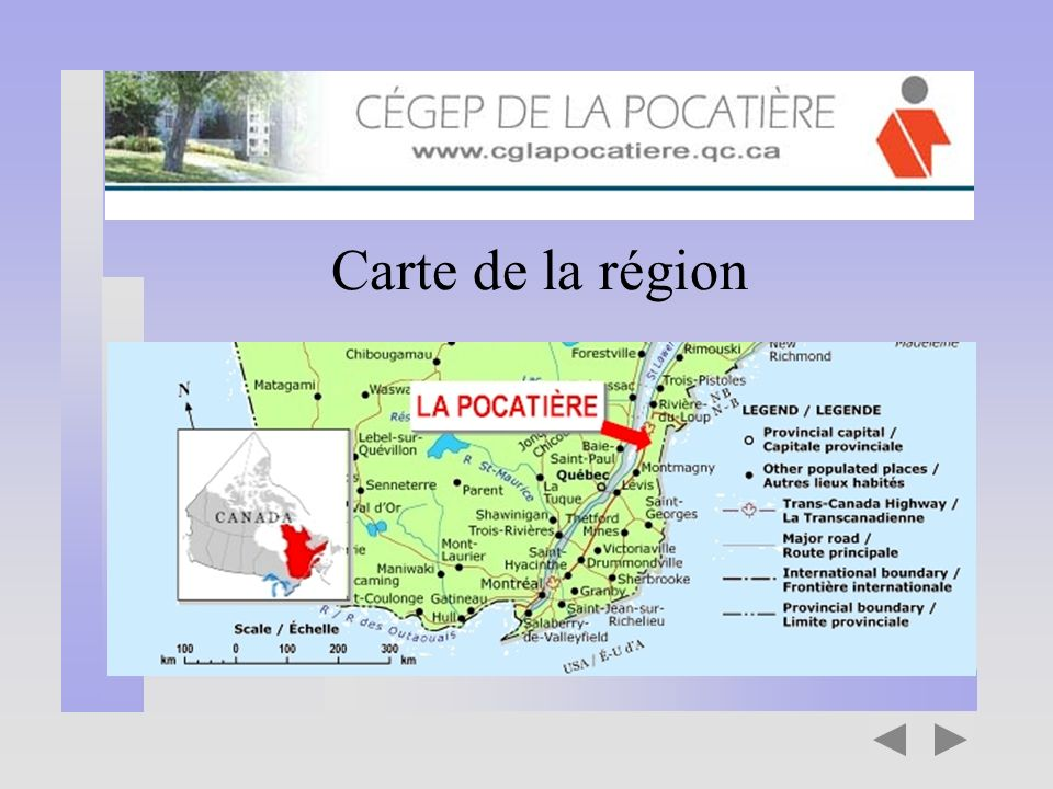 Carte de la région