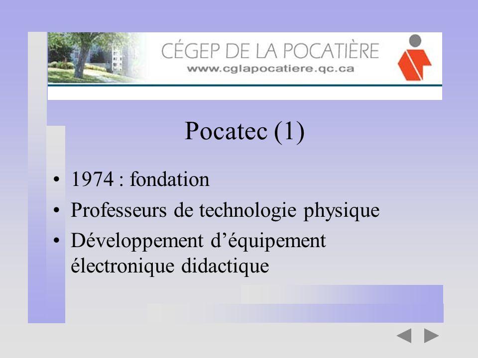 Pocatec (1) 1974 : fondation Professeurs de technologie physique