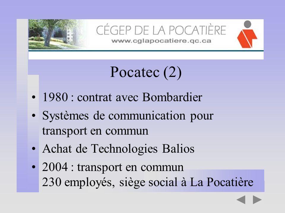 Pocatec (2) 1980 : contrat avec Bombardier