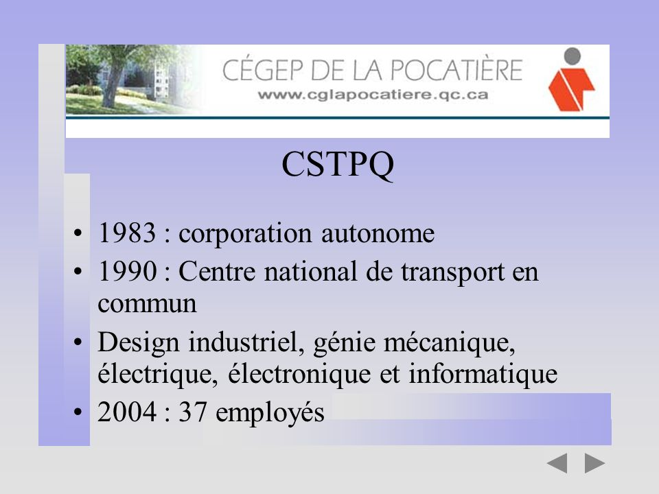 CSTPQ 1983 : corporation autonome