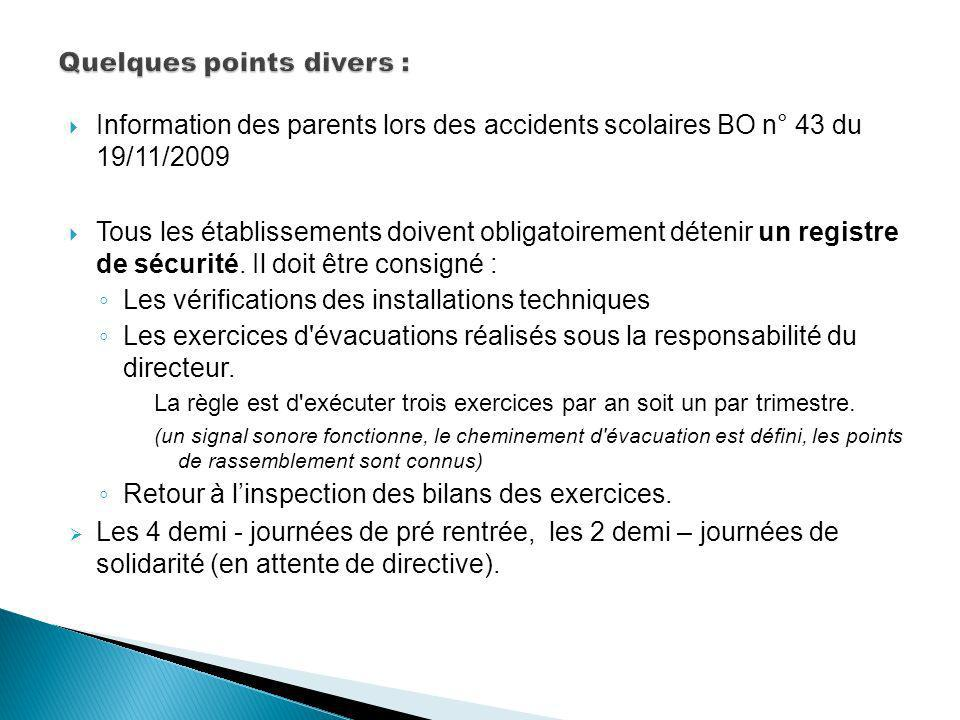 Quelques points divers :