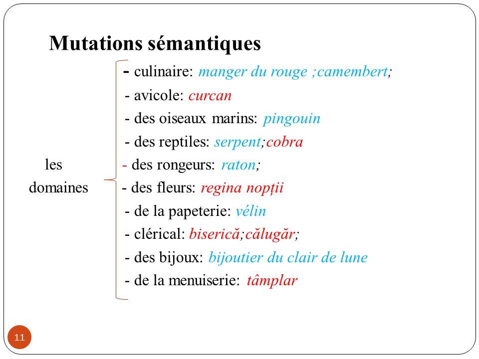 Mutations sémantiques