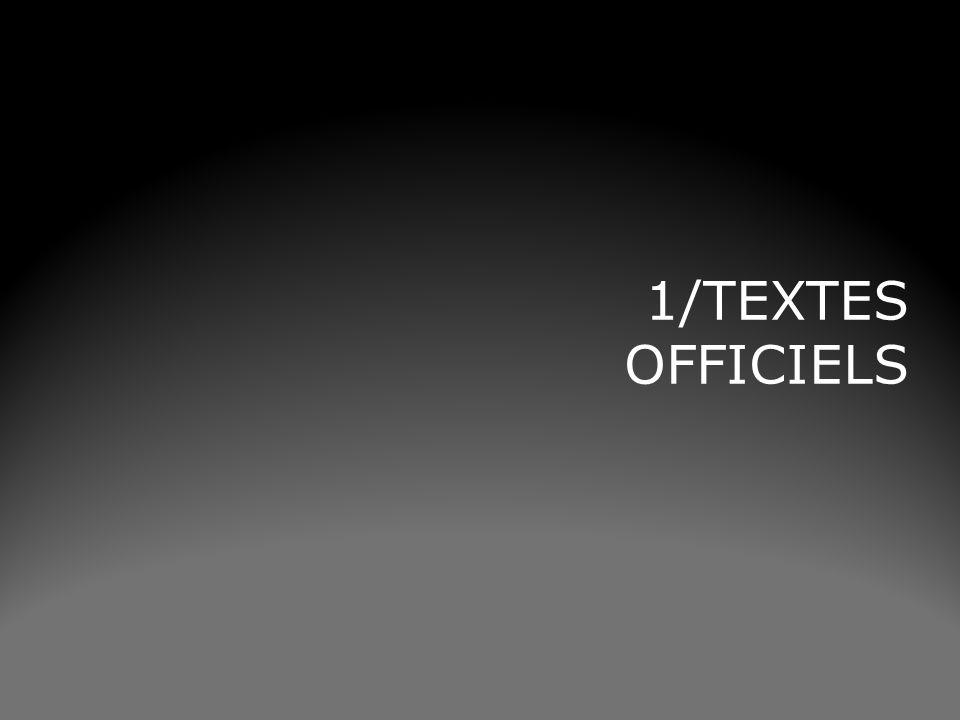 1/TEXTES OFFICIELS