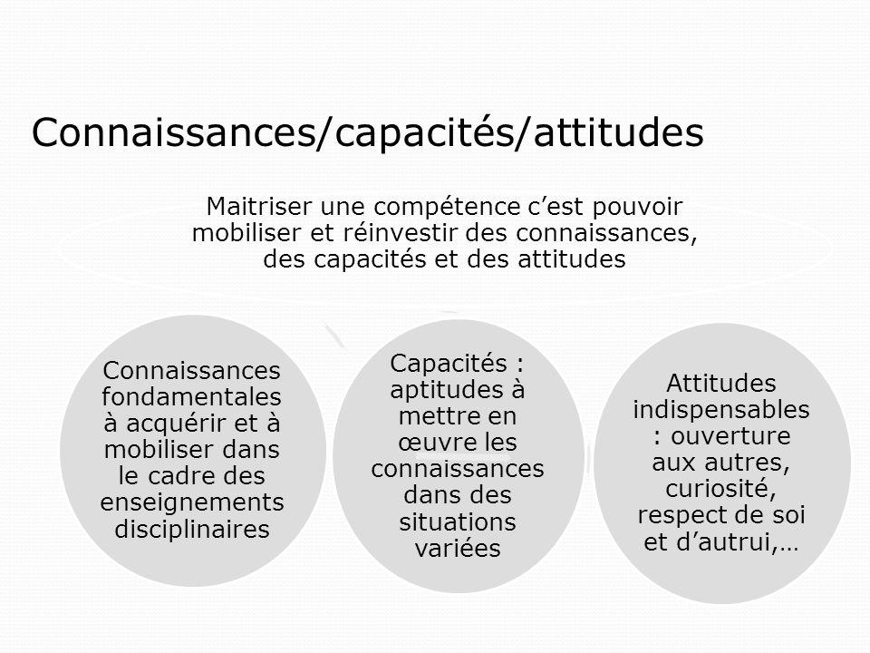 Connaissances/capacités/attitudes