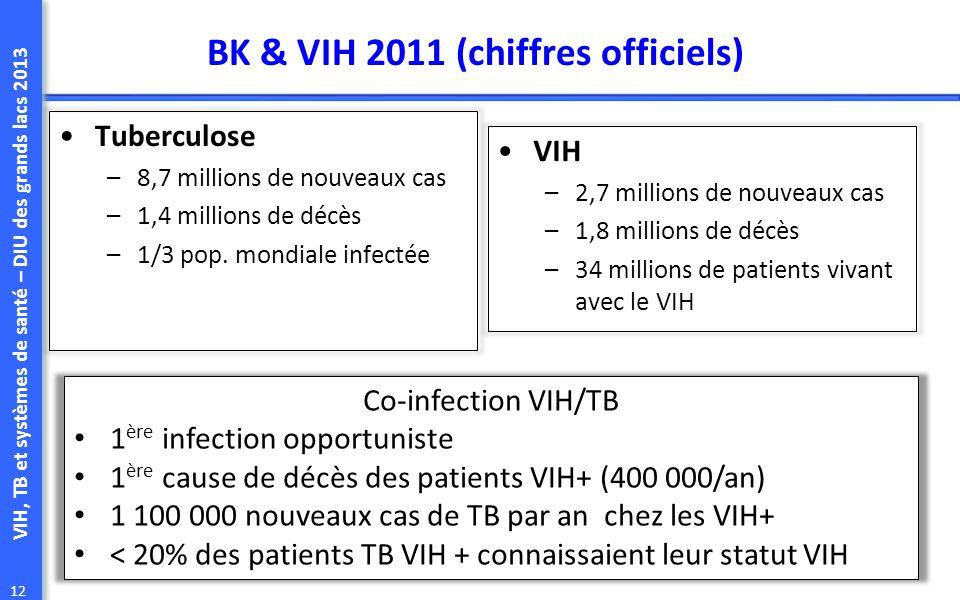 BK & VIH 2011 (chiffres officiels)