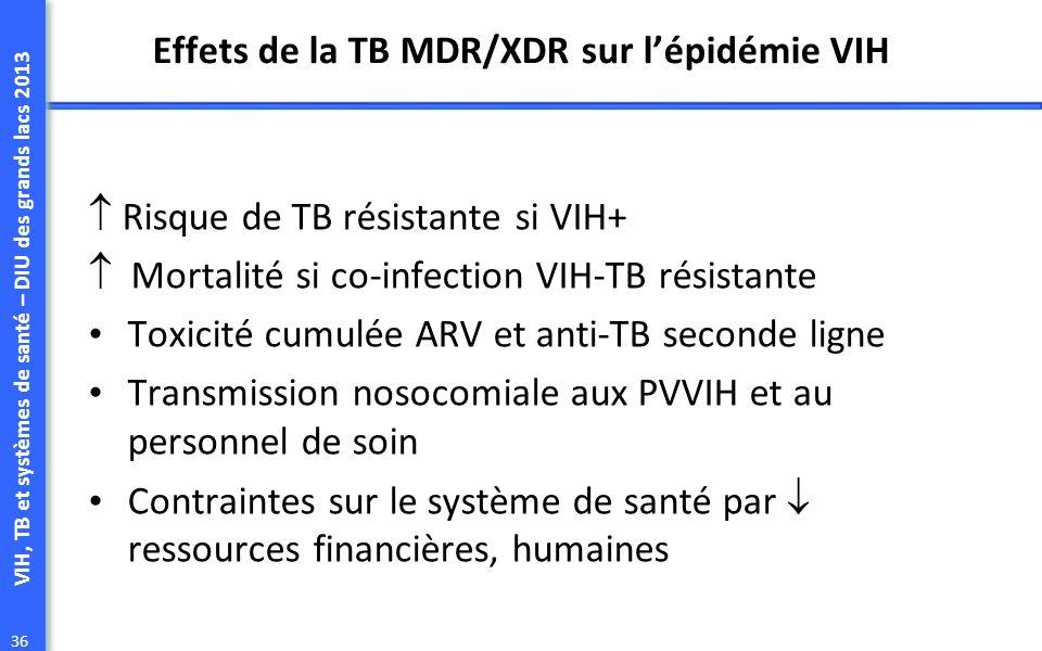 Effets de la TB MDR/XDR sur l'épidémie VIH