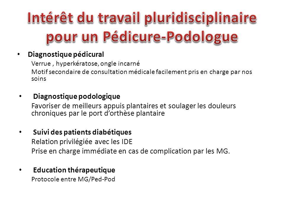 Intérêt du travail pluridisciplinaire pour un Pédicure-Podologue