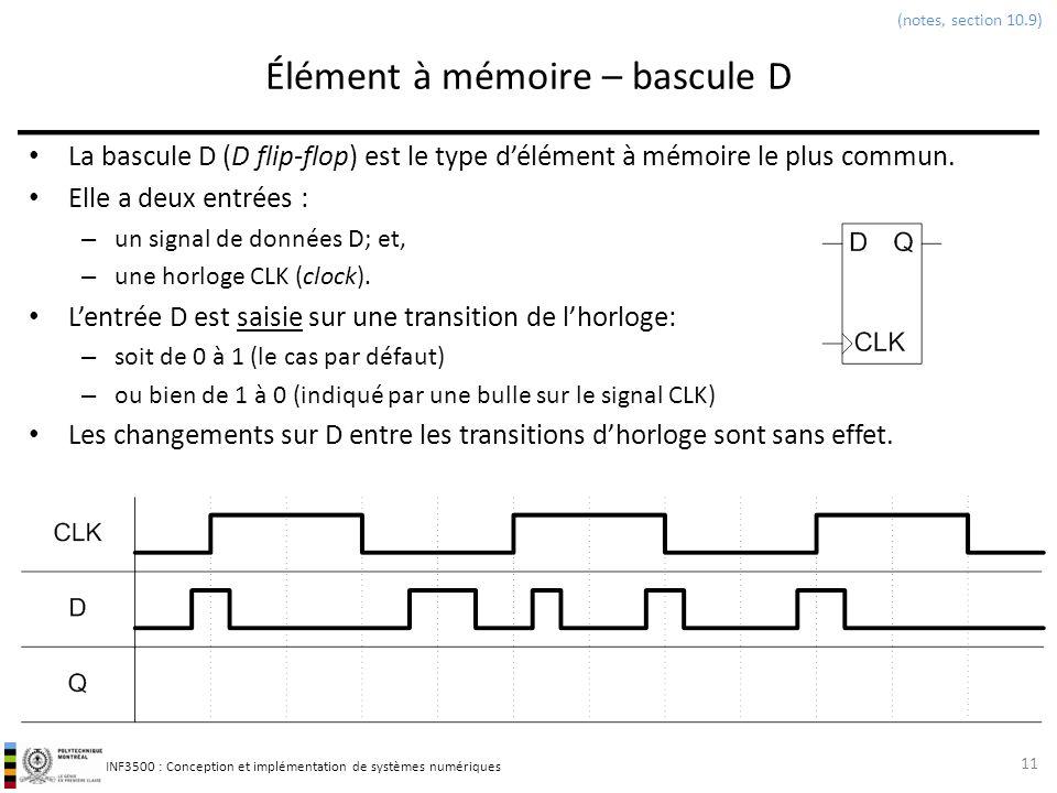 Cours 4 l ments m moire et circuits s quentiels for Fonctionnement bascule rs