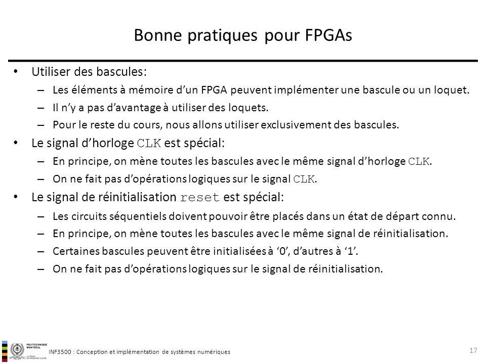 Bonne pratiques pour FPGAs