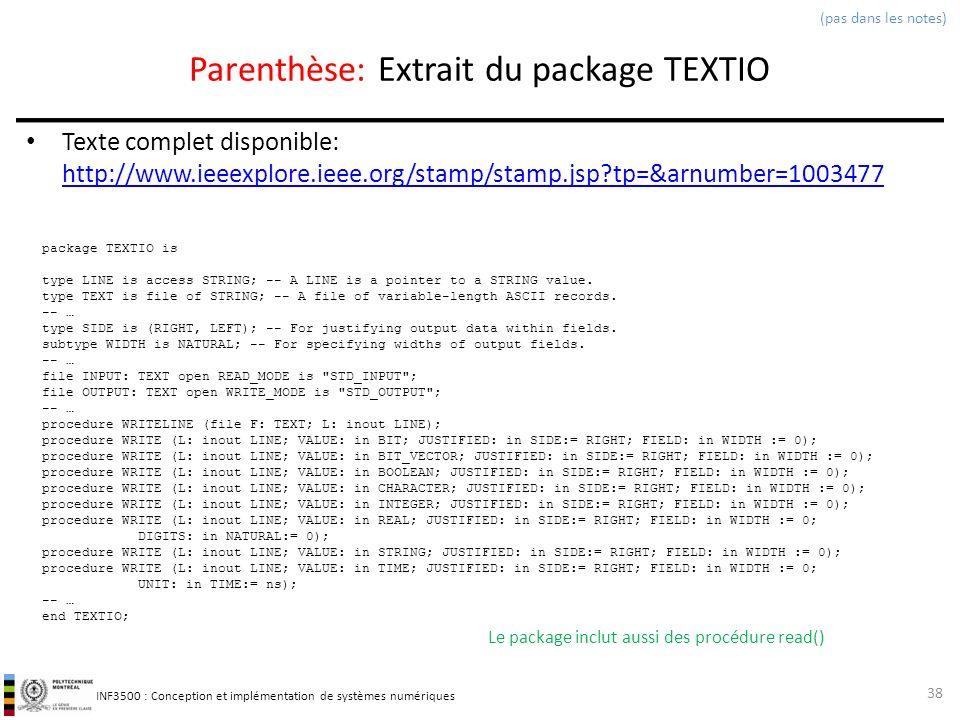 Parenthèse: Extrait du package TEXTIO