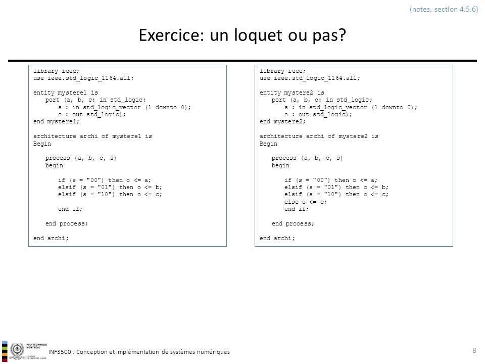 Exercice: un loquet ou pas