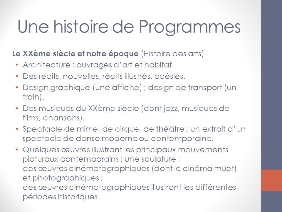 Une histoire de Programmes