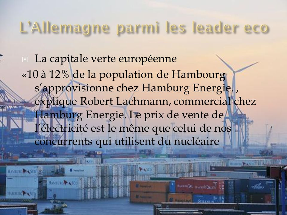 L'Allemagne parmi les leader eco