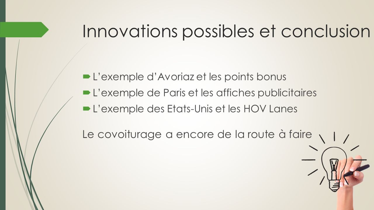 Innovations possibles et conclusion