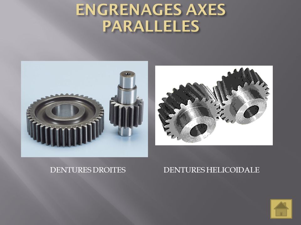 ENGRENAGES AXES PARALLELES