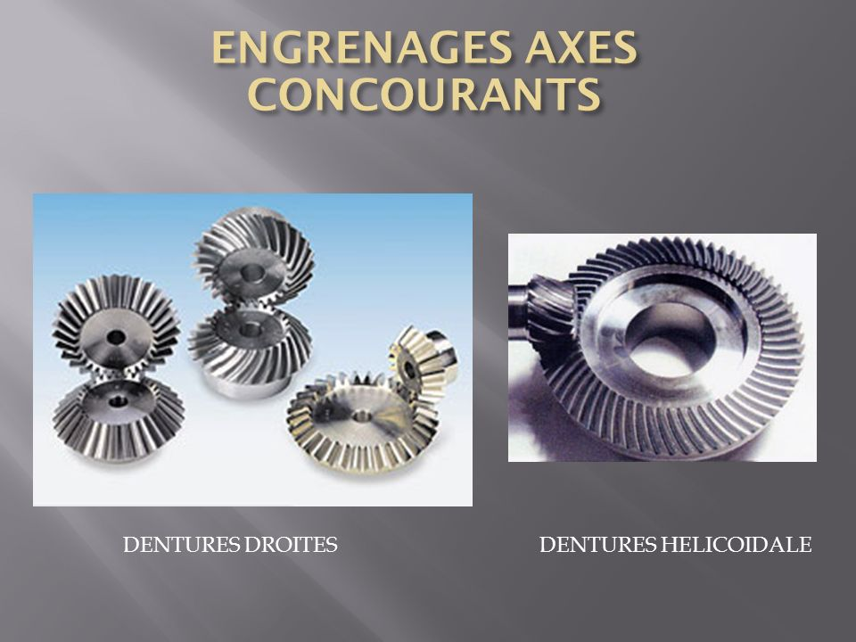 ENGRENAGES AXES CONCOURANTS