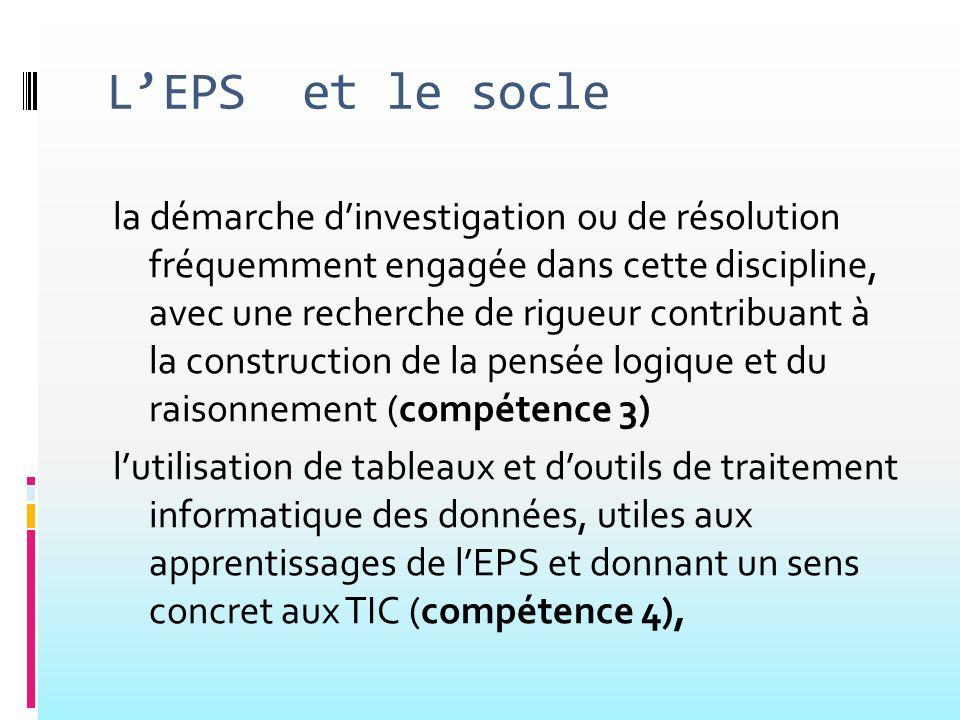 L'EPS et le socle