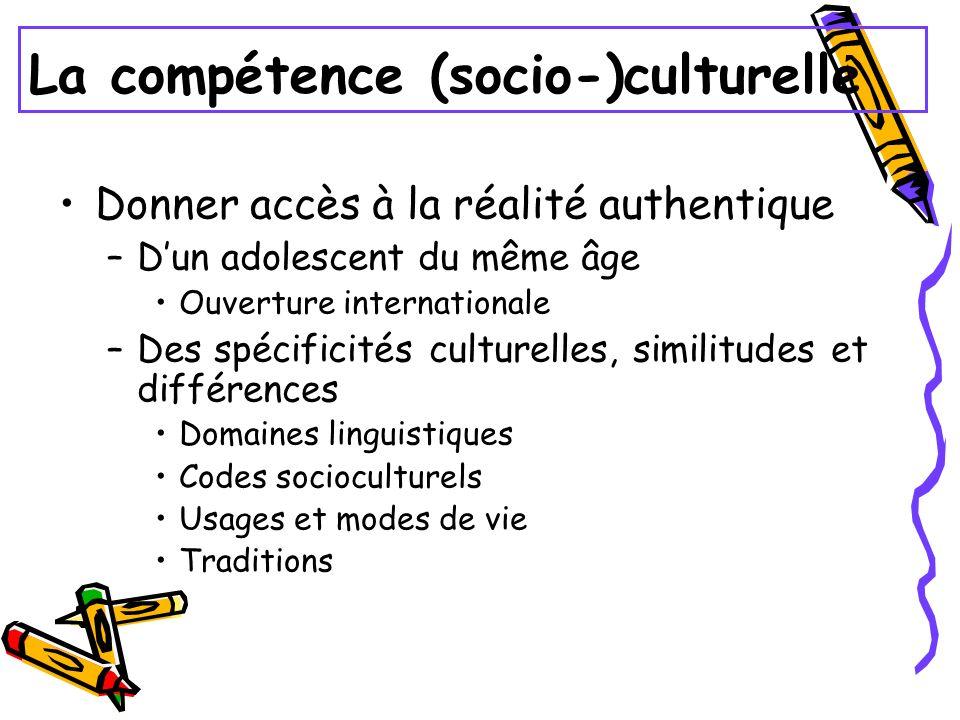 La compétence (socio-)culturelle