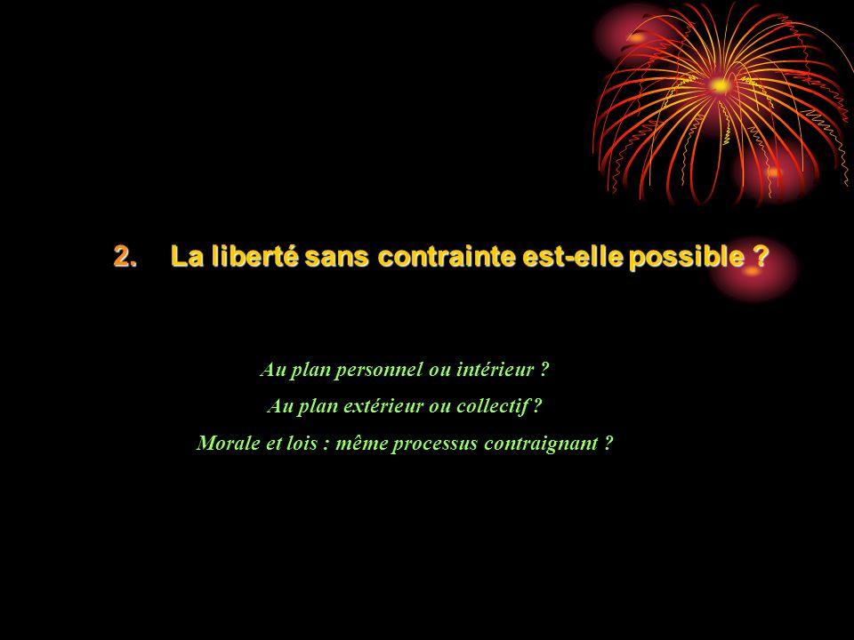 La liberté sans contrainte est-elle possible