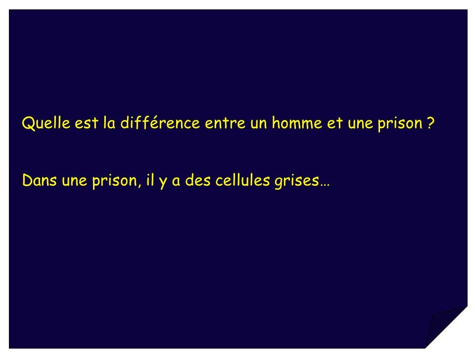Quelle est la différence entre un homme et une prison