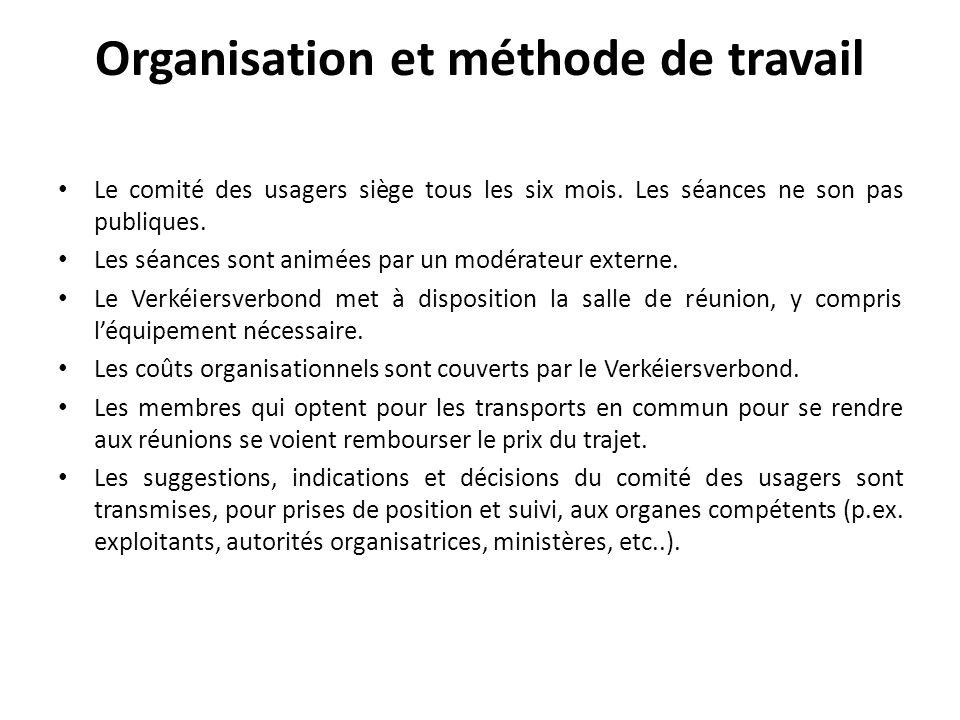 Organisation et méthode de travail