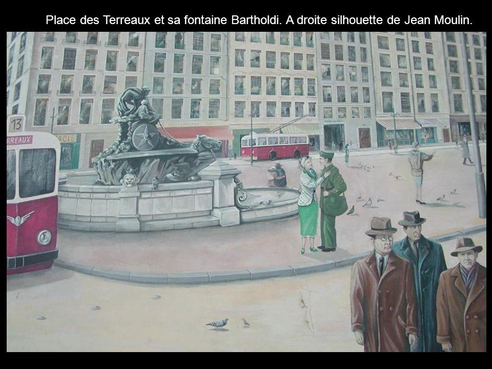 Place des Terreaux et sa fontaine Bartholdi