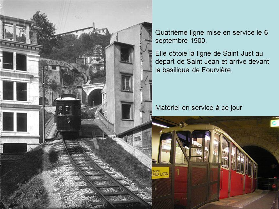 Quatrième ligne mise en service le 6 septembre 1900.