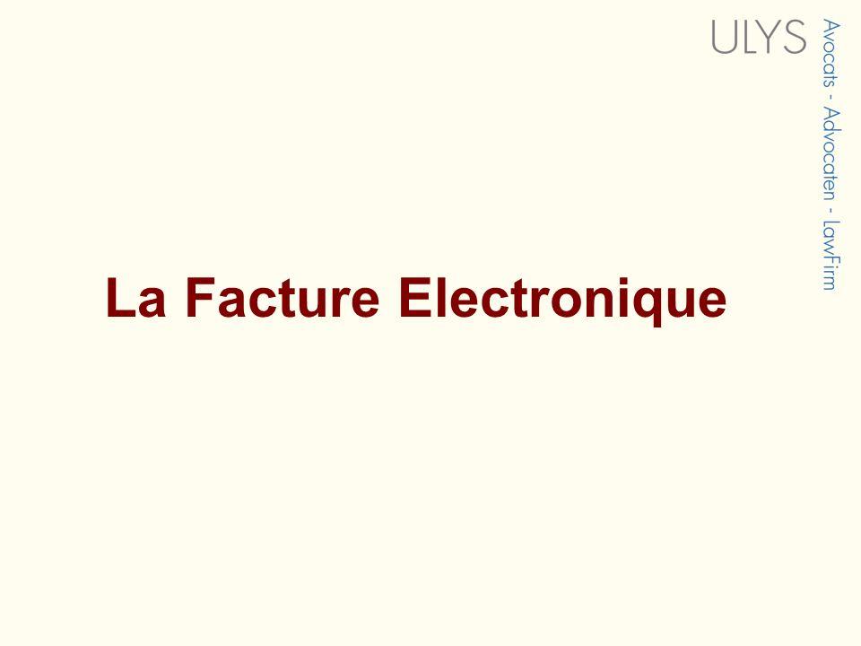 La Facture Electronique