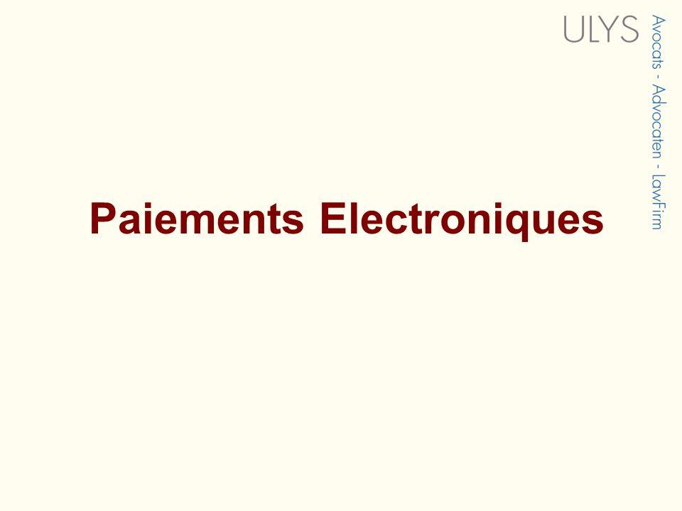 Paiements Electroniques