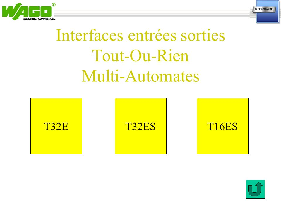 Interfaces entrées sorties Tout-Ou-Rien Multi-Automates