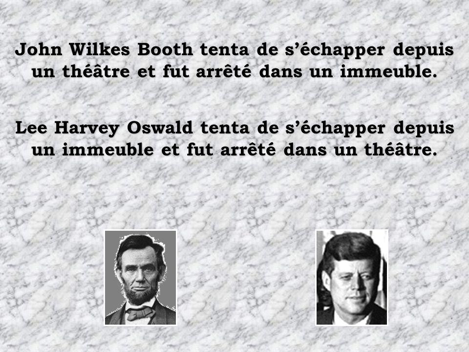 John Wilkes Booth tenta de s'échapper depuis un théâtre et fut arrêté dans un immeuble.