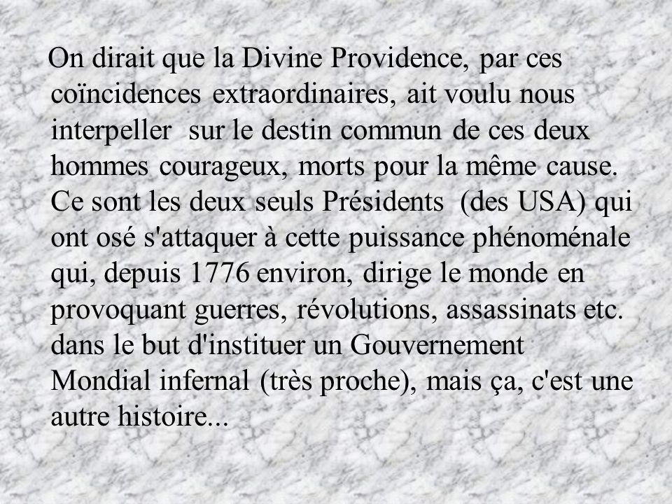 On dirait que la Divine Providence, par ces coïncidences extraordinaires, ait voulu nous interpeller sur le destin commun de ces deux hommes courageux, morts pour la même cause.
