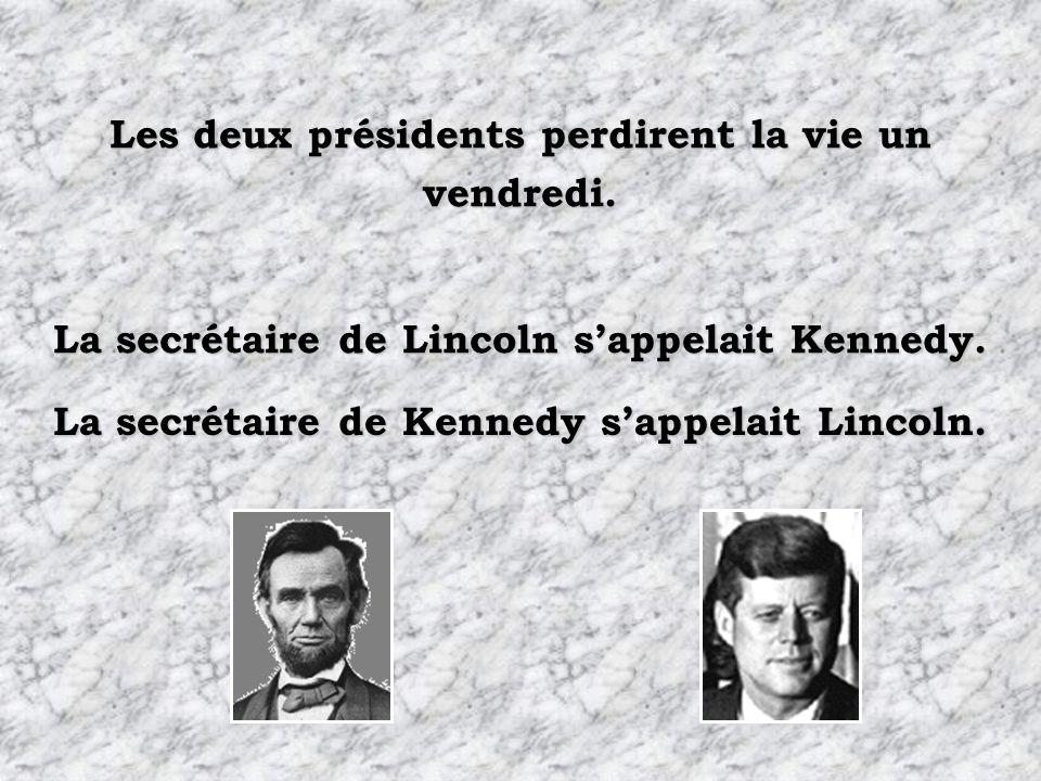 Les deux présidents perdirent la vie un vendredi.