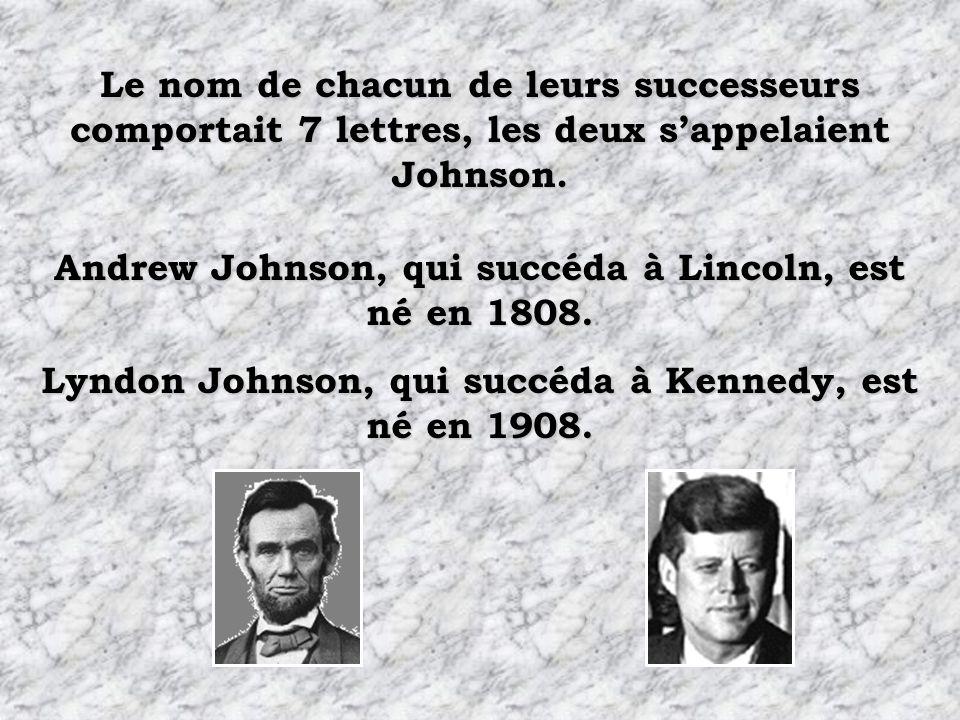 Andrew Johnson, qui succéda à Lincoln, est né en 1808.