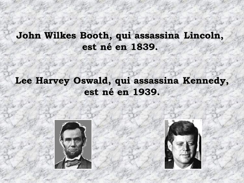 John Wilkes Booth, qui assassina Lincoln, est né en 1839.