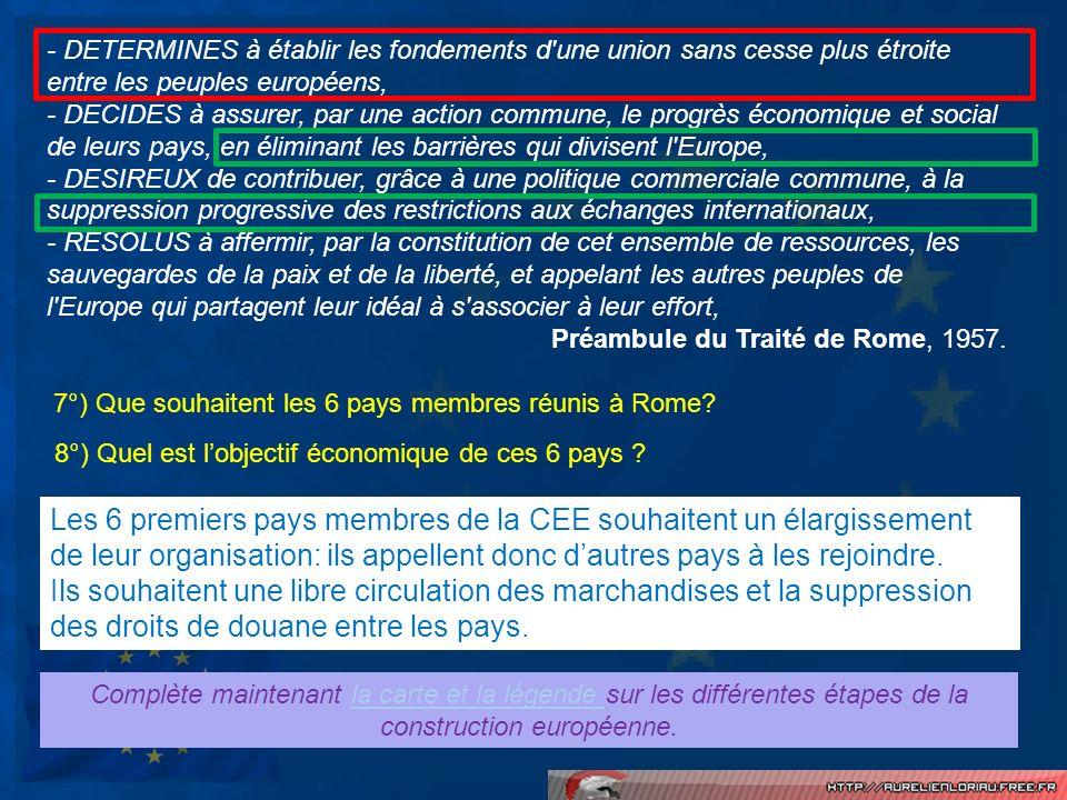 - DETERMINES à établir les fondements d une union sans cesse plus étroite entre les peuples européens,