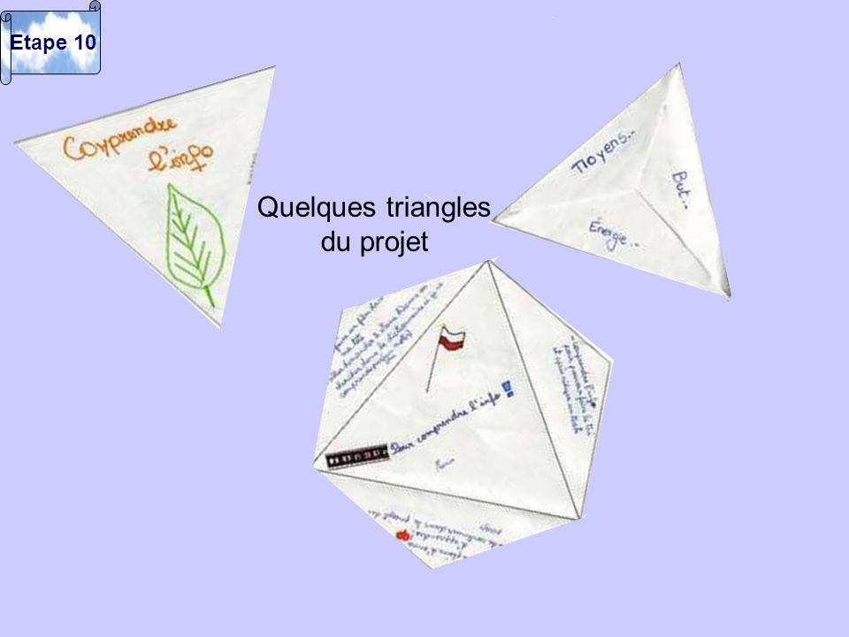 Quelques triangles du projet