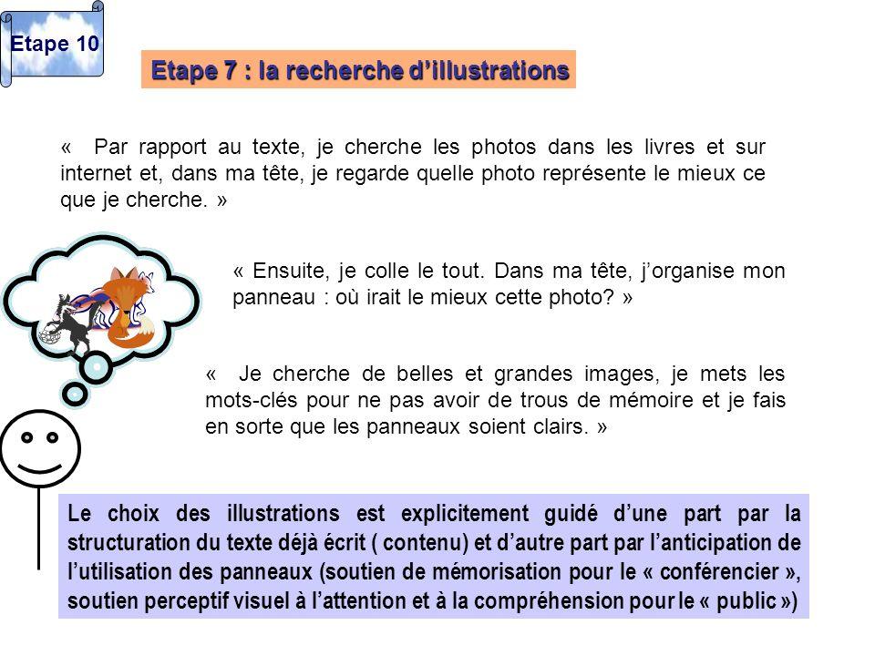 Etape 7 : la recherche d'illustrations