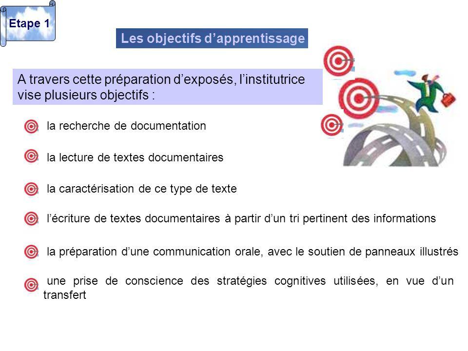 Les objectifs d'apprentissage