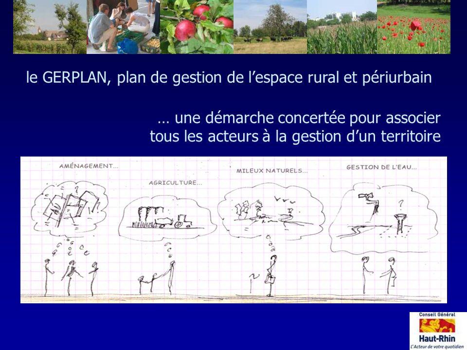 le GERPLAN, plan de gestion de l'espace rural et périurbain
