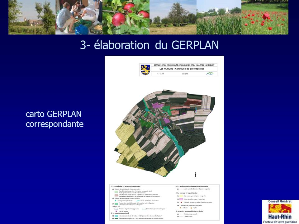 3- élaboration du GERPLAN