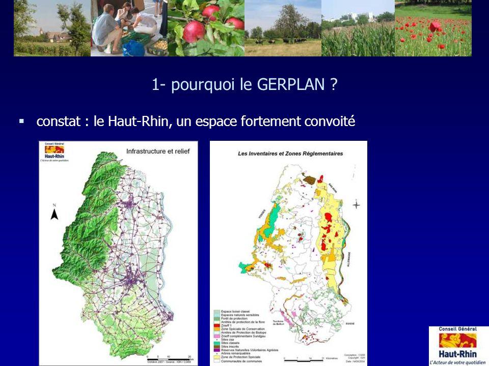 1- pourquoi le GERPLAN constat : le Haut-Rhin, un espace fortement convoité. 730 000 habitants )