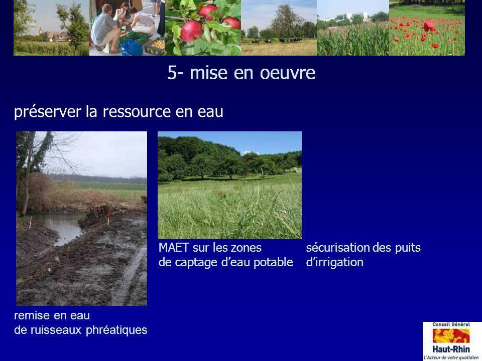 5- mise en oeuvre 5- mise en oeuvre préserver la ressource en eau