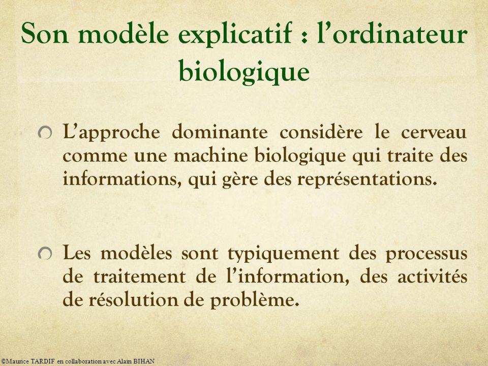 Son modèle explicatif : l'ordinateur biologique