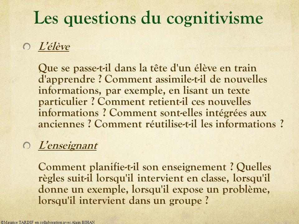 Les questions du cognitivisme