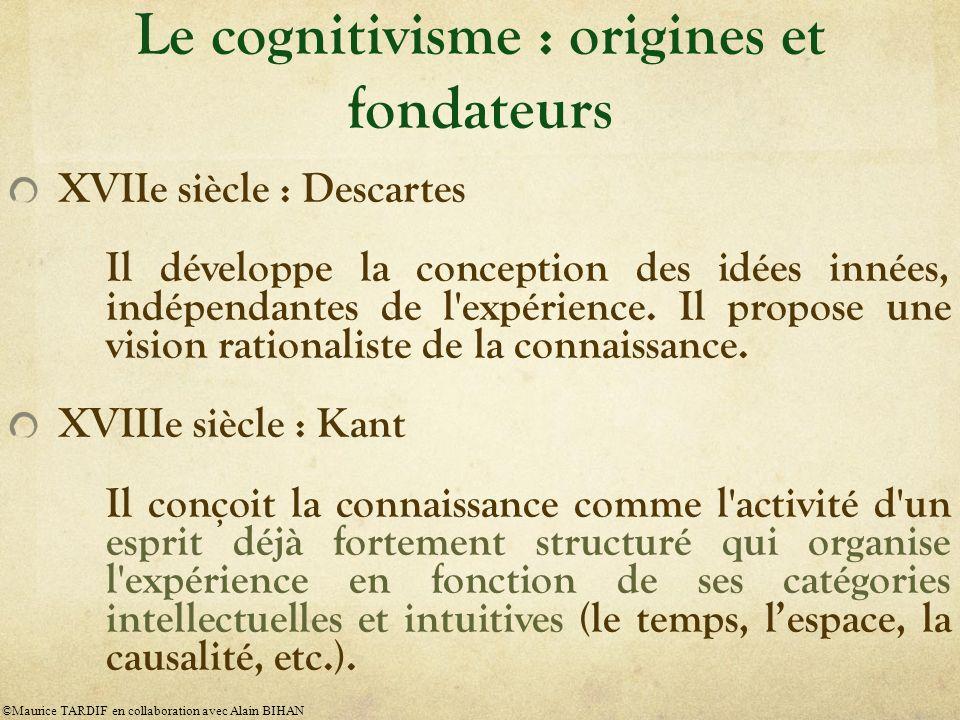 Le cognitivisme : origines et fondateurs